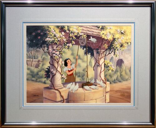 """Snow White at the Well"" Limited Edition Hand-Painted Cel FRAMED Disney 1992"
