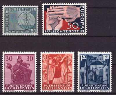 (621) div. Liechtenstein ** Mi.-Nr. 418, 419 und 424-426