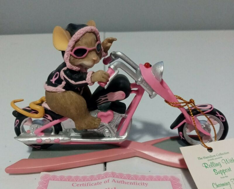 """Charming Tails """"ROLLING WITH SUPPORT"""" Figure Trails Of A Cure Collection A1289"""
