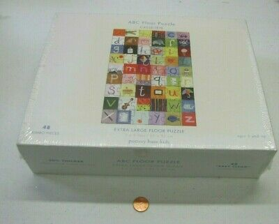 """NEW Pottery Barn Kids ABC Quilt Floor puzzle 48 Pieces 24 x 36"""" Toy MADE IN USA"""