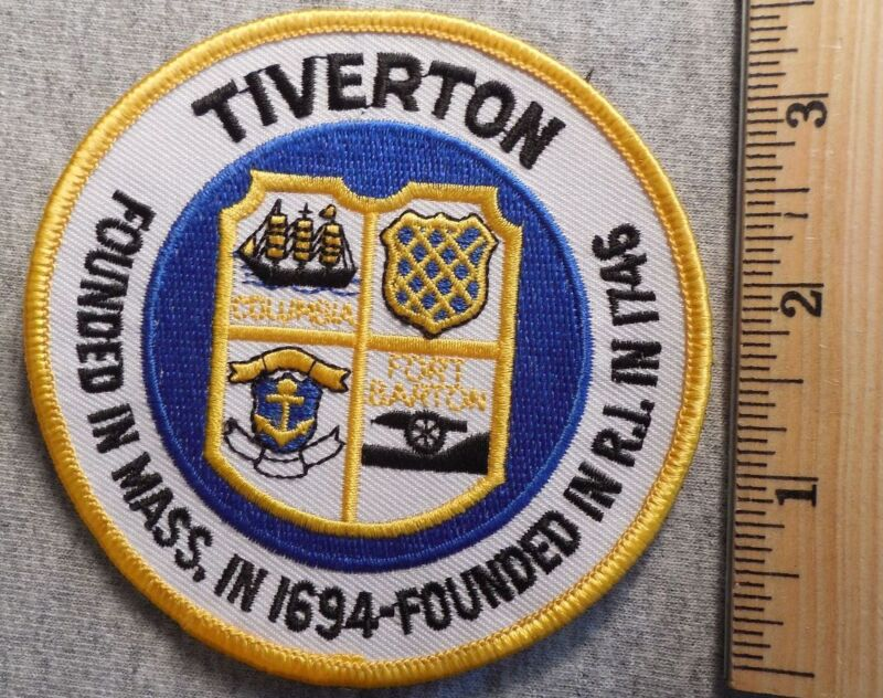 TIVERTON RHODE ISLAND PATCH (HIGHWAY PATROL, SHERIFF, EMS)