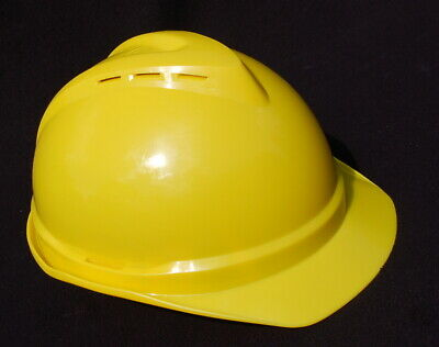 Msa V-gard 500 Hard Hat Helmet Yellow Plastic Construction