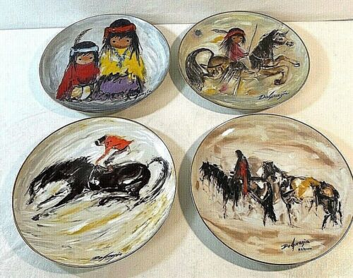 De Grazia Collector Plates Set of 4 SouthWestern Indian Themed Limited Edition