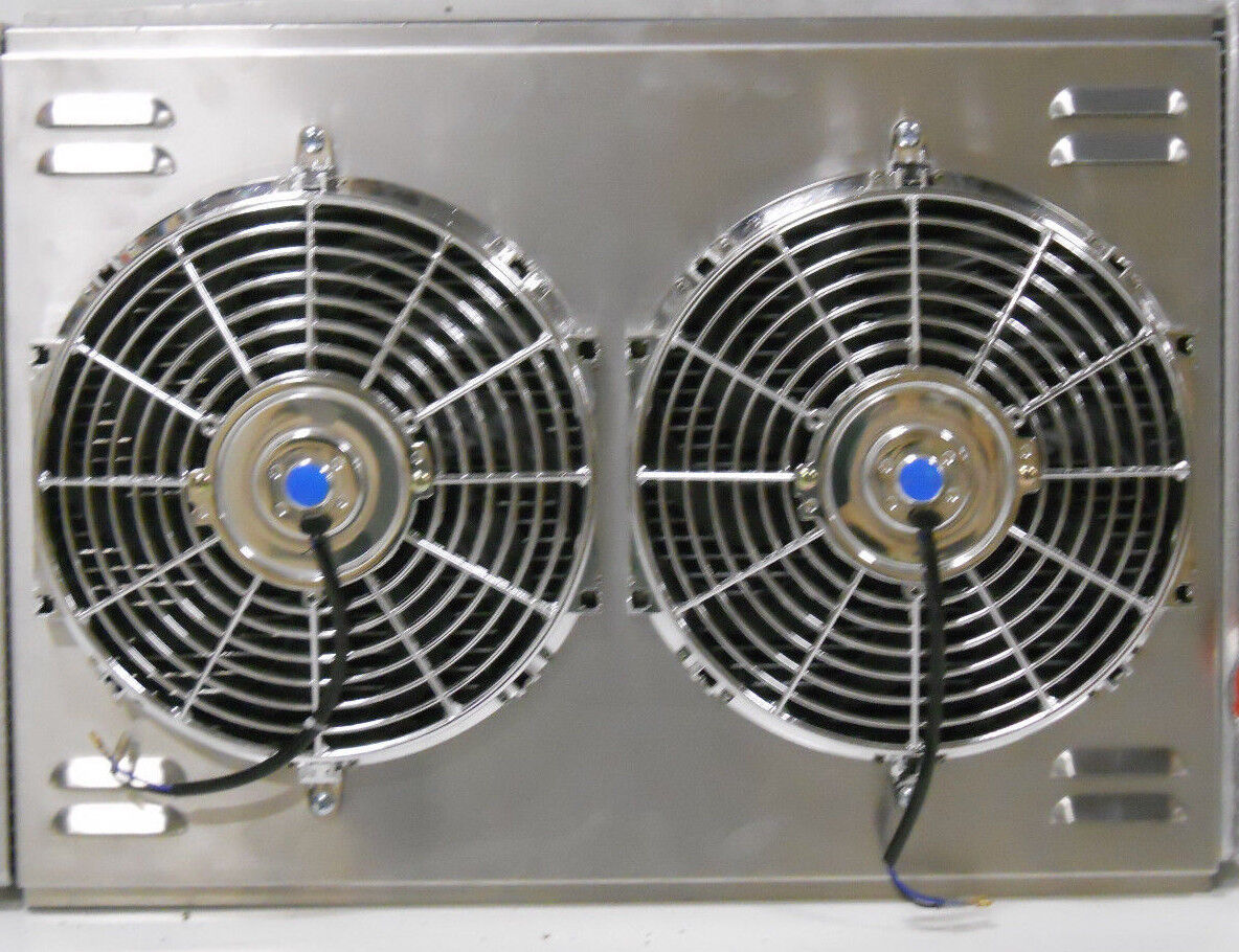 "26"" x 19"" Universal Cross Flow Shroud and Dual 12"" Fans"