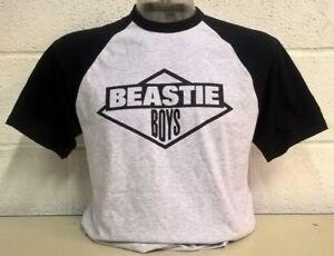Beastie Boys Grey/Black  Baseball T-Shirt