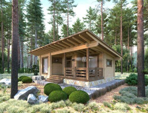 LOG HOUSE KIT #LH-50.9 ECO FRIENDLY WOOD PREFAB DIY BUILDING CABIN HOME MODULAR