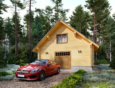 Log Garage Kit Lhbg-80 Eco Friendly Wood Prefab Diy Building Cabin Home Modular