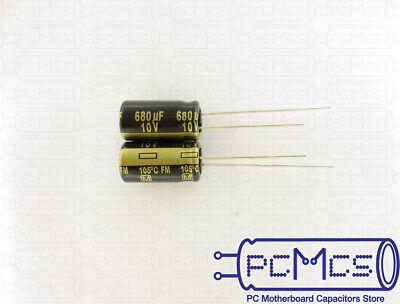 20 Pcs Panasonic Fm Series 10v 680uf Japan Made Low Impedance Capacitor 8x15