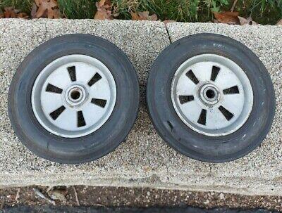 2 Solid Rubber 8 Inch Diameter Wheel Rim Tires