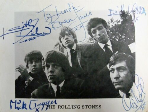 Rolling Stones w/reproduction signature archival quality,  002