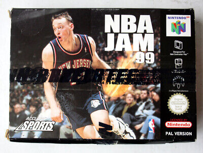 NINTENDO 64 NBA JAM 99 EUROPEAN EDITION PAL N64 JAPAN NEW NOS !