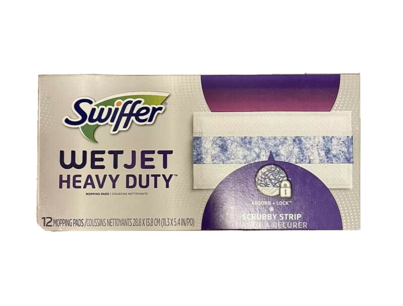 Swiffer WETJET Heavy Duty Hard Floor Mopping Refill Pads 12 Ct BRAND NEW ✅