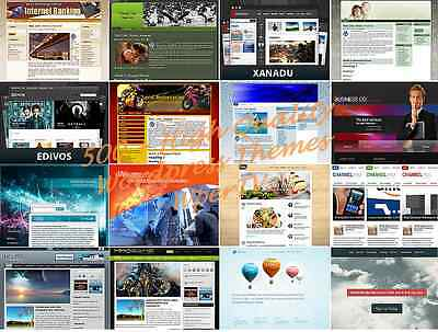 Mega 500  Premium Wordpress Website Themes Templates   With Resell Rights