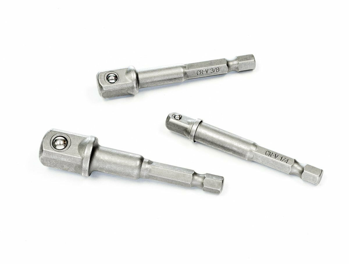 SE Power Extension Socket Bits for Drills - 3 Pc. Set