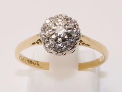 Jewelry & Watches 18carat 18k Yellow Gold 0.20 Carat Diamond Solitaire Ring Uk Size M Us Size 6