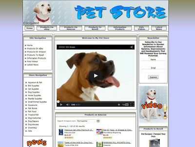 Dog Care Guide Turnkey Store Website - Adsense-clickbank-amazon-ebay