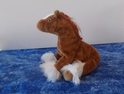 HOOFER the Clydesdale Horse 2002 TY Beanie Baby Plush Stuffed Animal Toy, used for sale  Shipping to Canada