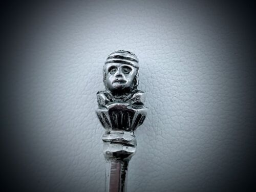 Spoons With Monkey Head Finials Thomas Bradbury & Sons Sheffield Sterling Nifty!