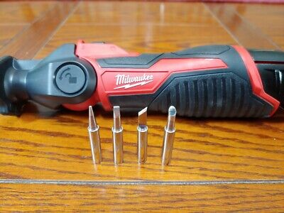 4 New Aftermarket Soldering Iron Tips That Fit Milwaukee M12 2488-20 Assorted