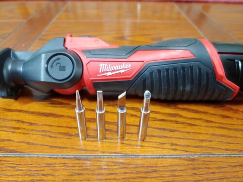 5 100% New Replacement Tips For Milwaukee M12 Soldering Iron 2488-20 Assorted