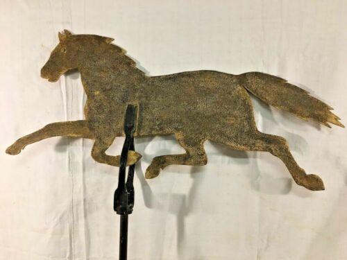 "Antique Early American Folk Art Running Horse Weathervane, 32"" long, 1870-90"