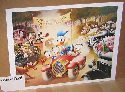 Carl Barks Kunstdruck: A 1934 Belchfire Runabout!  - Donald Duck, 313 Art Print