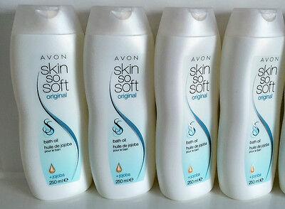 """(20,00€/L) Avon 4 x Skin So Soft Original Badeöl mit Jojoba """"1000ml"""""""