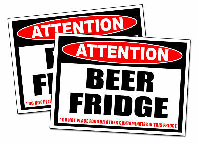 BEER FRIDGE ONLY Warning Sticker Pong Game Decal drink