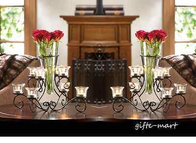 Vases Bulk (10 bulk lot VASE black Candle holder candelabra floral wedding table)