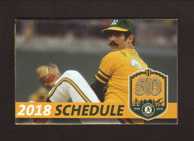 Rollie Fingers--2018 Oakland Athletics Pocket Schedule--KXBX