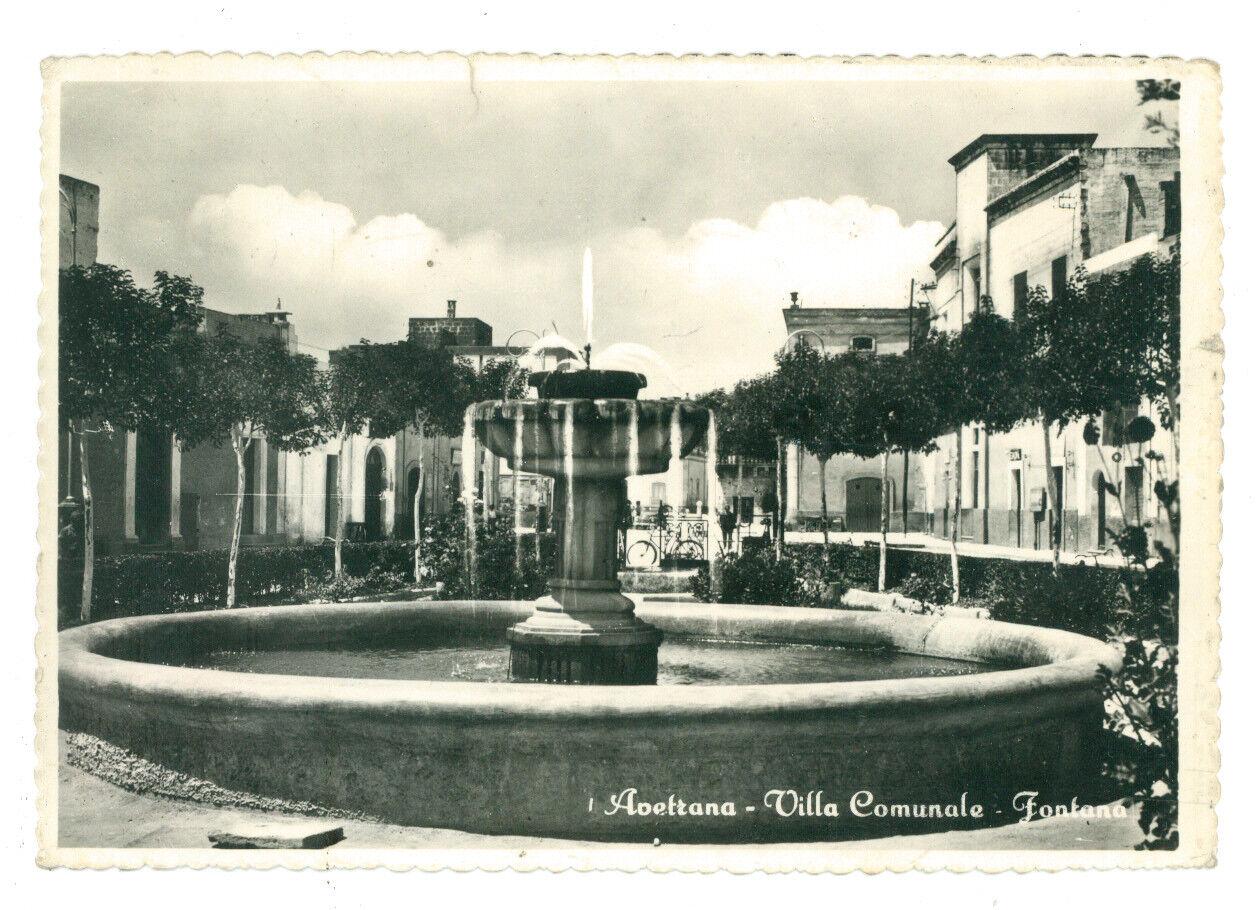 AVETRANA VILLA COMUNALE FONTANA TARANTO VIAGGIATA 1960 PUGLIA