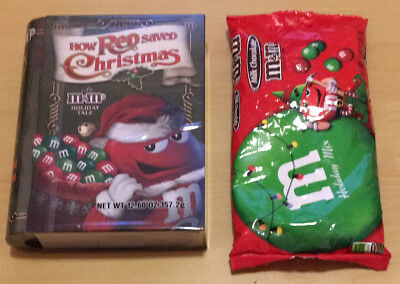 NEW M&M's Tin Book-shaped How Red Saved Christmas Tale 2009 Collectible