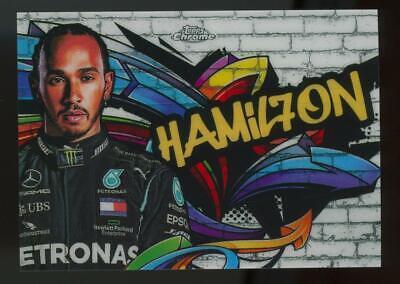 2020 Topps Chrome Formula One Track Tags Lewis Hamilton