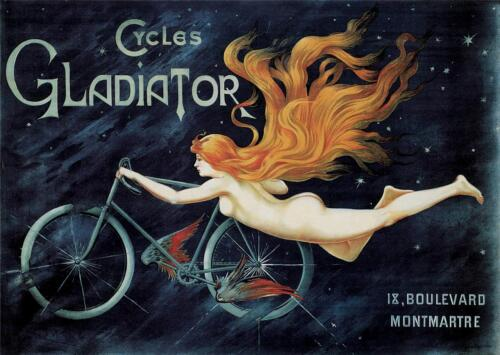 ART DECO GLADIATOR CYCLES REPRODUCTION VINTAGE STYLE A3 ADVERTISING POSTER NEW