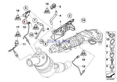 BMW Genuine Diesel part filter sensor/mounting parts Exhaust Pressure Sensor E70