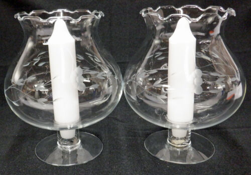Princess House HERITAGE      Pair of  Candle Lamps / Holders   BEAUTIFUL