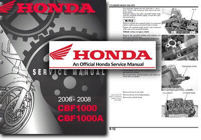 Honda CBF1000 Service Workshop Repair Shop Manual CBF 1000 CBF1000A