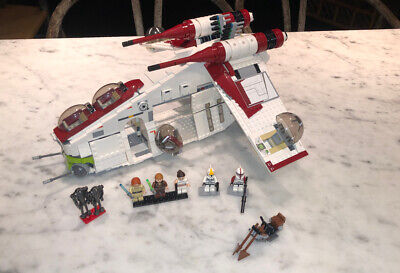 LEGO 75021 STAR WARS REPUBLIC GUNSHIP 100% COMPLETE