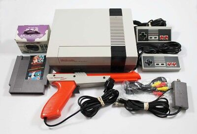 Nes Nintendo System Console   Super Mario Bros  Duck Hunt  New 72 Pin  Zapper