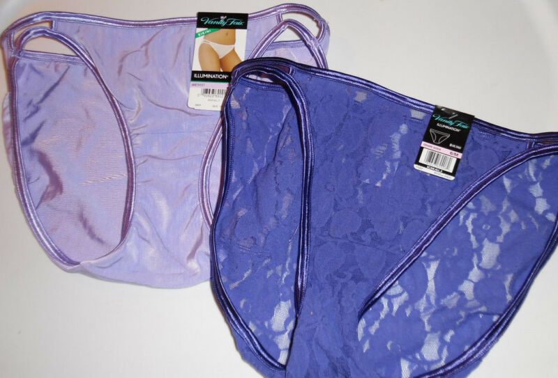 Vanity Fair Illumination String Bikini 18108 18202 2 Panty Womens 6 M Purple