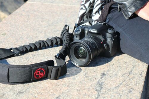 StatGear BOOMR Bungee Camera Strap Sling BLACK Fits Canon Nikon Sony Pentax DSLR