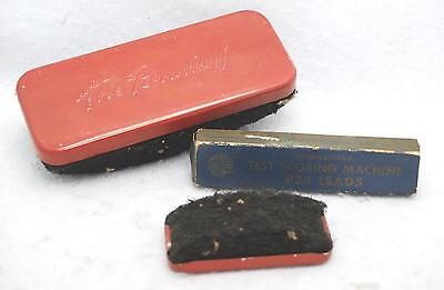 Lot Of 3 Vintage The Brushoff Dry Eraser Test Scoring Machine P3b Lead