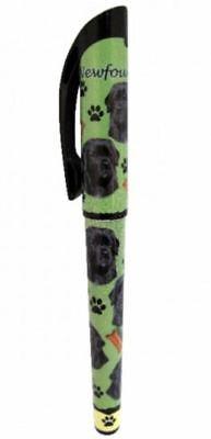 NEWFOUNDLAND GEL PEN REFILLABLE BLACK GEL INK DOG GIFT