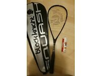Brand new! Black knight mercury tc squash racket plus Wilson squash balls x3