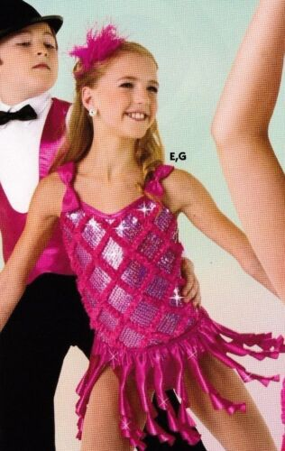 NEW Dress up Fun Intermediate child (6x-7) Foil Leotard /matching squiggle skirt