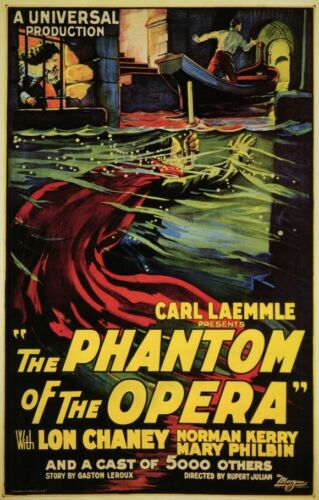"""THE PHANTOM Of THE OPERA  Movie Poster [Licensed-NEW-USA] 27x40"""" Theater Size"""