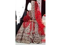 Wedding bridal asian designer lengha dress bride groom weddings + wedding jewellery