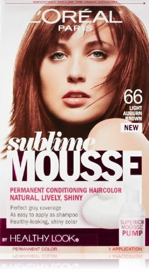 L Oreal Healthy Look Sublime Mousse Hair Color, 66 Light Auburn Brown - $7.99