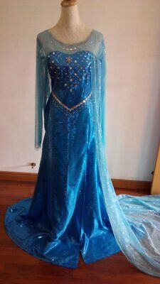 Disney Movie Frozen Elsa Dress Made Cosplay Costume For Adult and Children - Disney Frozen Costumes For Adults
