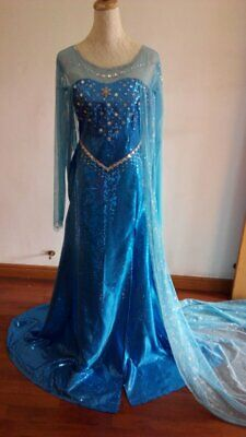Disney Movie Frozen Elsa Dress Made Cosplay Costume For Adult and Children - Disney Frozen Costume For Adults